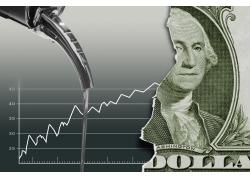 水龙头与美元创意海报高清图片