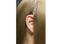 女性头发发丝特写高清图片