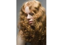 黄发美女发型设计高清图片