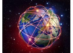 抽象创意地球海报高清图片