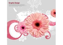 时尚背景花朵海报设计PSD素材