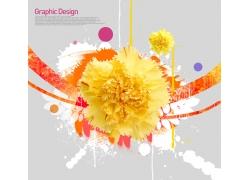潮流花朵海报PSD素材
