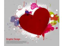 创意抽象爱心海报PSD分层素材