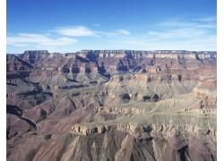 蓝天下的高原地貌高清图片