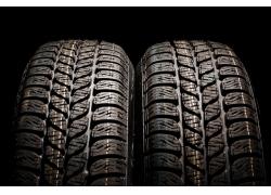 汽车轮胎外胎特写高清图片