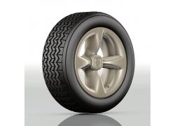汽车轮胎模型高清图片