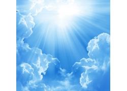 蓝天白云阳光高清图片
