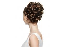 盘发外国女人发型设计高清图片
