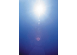太阳光圈自然景观高清图片