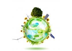 环保概念创意海报高清图片