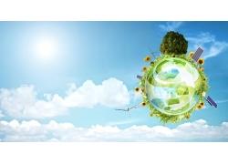 环保概念创意海报设计高清图片