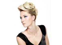 外国美容美发女性面部高清图片