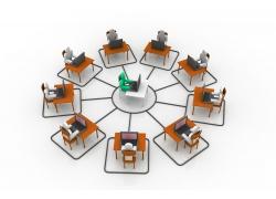 商业会议3D小人素材高清图片
