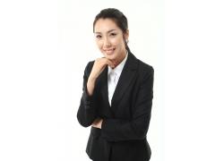 穿着黑色工装的职业女性图片