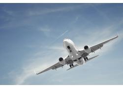 天空中的航天飞机摄影高清图片
