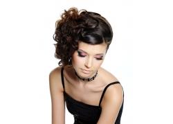 时尚美女发型正面高清图片