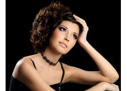 时尚美女发型展示高清图片