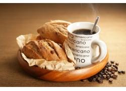 咖啡与面包高清图片