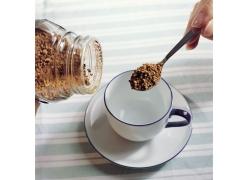 冲光咖啡时摄影高清图片