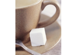 咖啡杯与白糖摄影高清图片