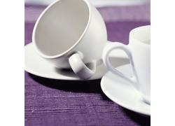 干净的咖啡杯子摄影高清图片