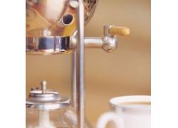 咖啡机局部特写摄影高清图片
