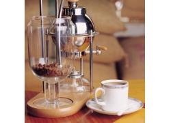 咖啡机与咖啡摄影高清图片