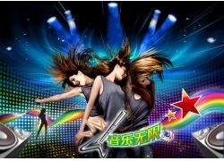 KTV音乐DM单页设计PSD素材