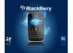 blackberry黑莓手机宣传单设计PSD素材