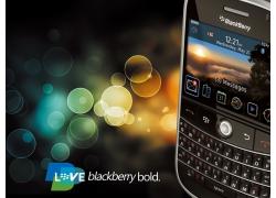 黑莓手机宣传广告设计PSD素材