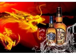 芝华士品牌名酒广告PSD素材