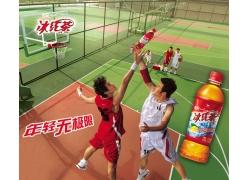 统一冰红茶饮料广告设计PSD素材