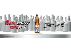 银子弹啤酒宣传画PSD分层素材