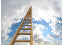 通往天堂的阶梯高清图片