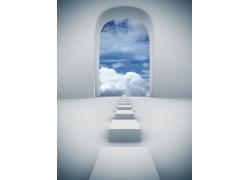 创意通向天堂之路高清图片