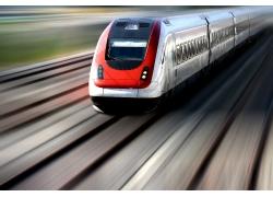 高清行驶的火车高清图片