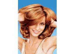 开心性感外国美女时尚发型设计高清图片