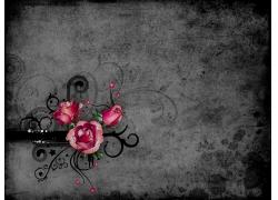 个性花纹花朵时尚潮流纹理背景