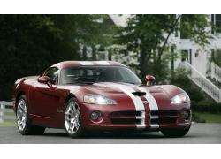 奢华的红色跑车高清图片