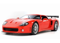 一辆红色高档轿车特写高清图片