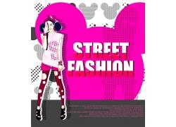 时尚潮流女孩PSD分层素材图片