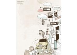 日韩风格艺术插画PSD素材