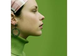 外国时尚美女侧面摄影高清图片