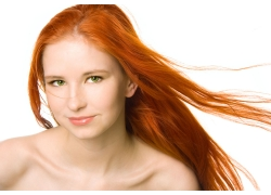 头发飘逸的外国美女高清图片