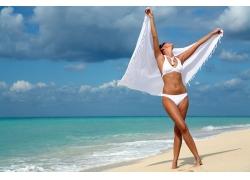 海边度假美女高清图片