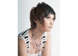 个性美女发型设计特写高清图片
