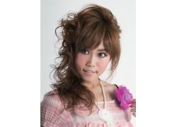 甜美个性发型美女模特特写高清图片