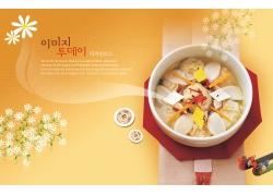 韩国美食煲创意海报PSD分层素材