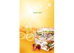韩式面包点心美食海报PSD分层素材