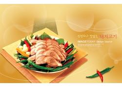 韩国风味美食海报PSD分层素材